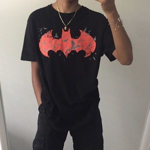 Batman Logo Graphic Short Sleeve T-shirt Tee Large